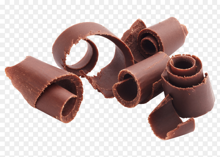 Chocolate shavings on transparent background PNG