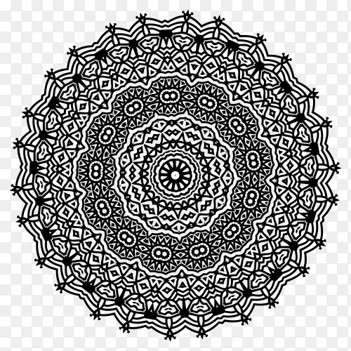 Circular pattern in the form of a mandala Premium Vector PNG
