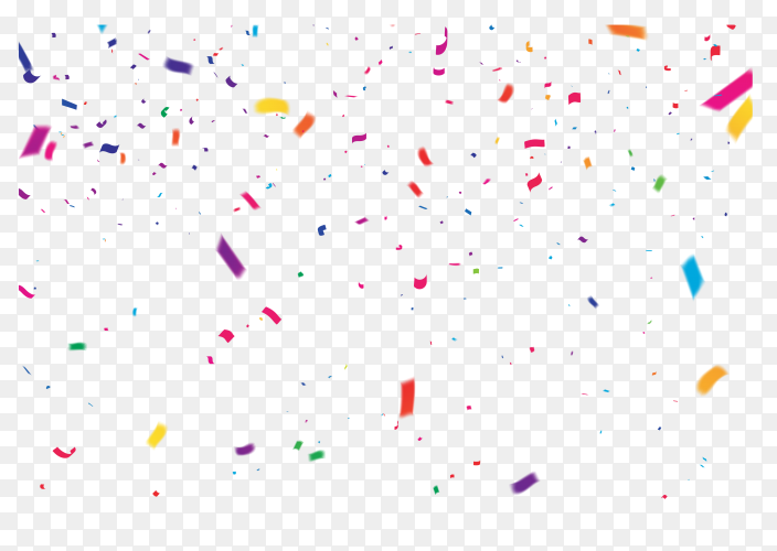 Colorful confetti celebratory on transparent background PNG