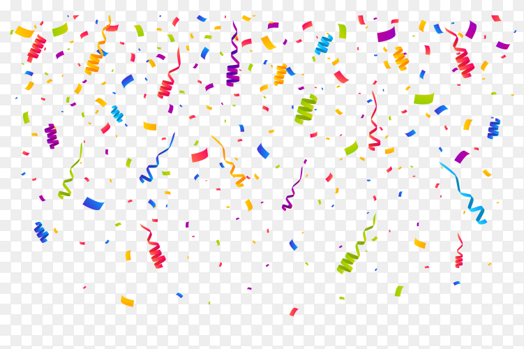 Colorful confetti for festive celebrations on transparent background PNG