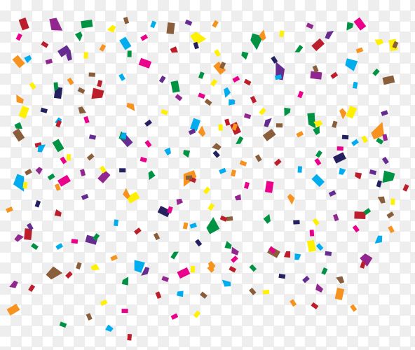 Colorful confetti illustration on transparent background PNG