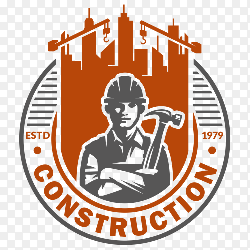 Construction logo design Clipart PNG