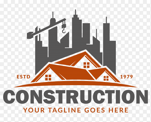 Construction logo template premium vector PNG