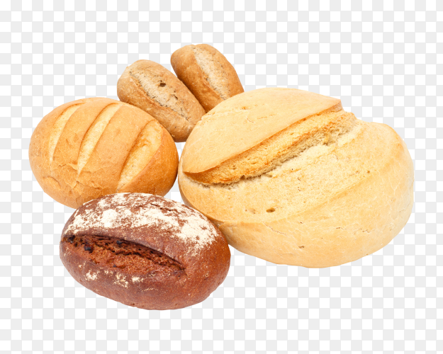Delicious baked bread on transparent background PNG