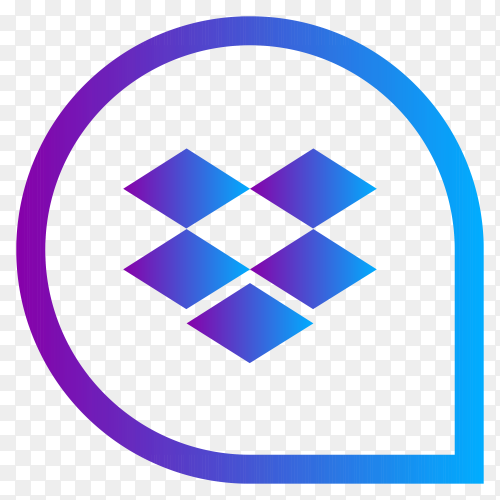 Dropbox icon design on transparent background PNG