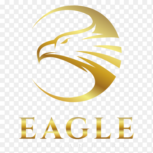 Eagle logo on transparent background PNG