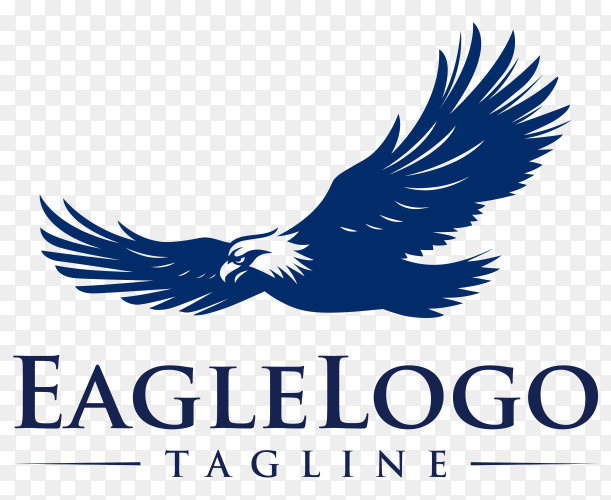 Eagle logo template on transparent background PNG