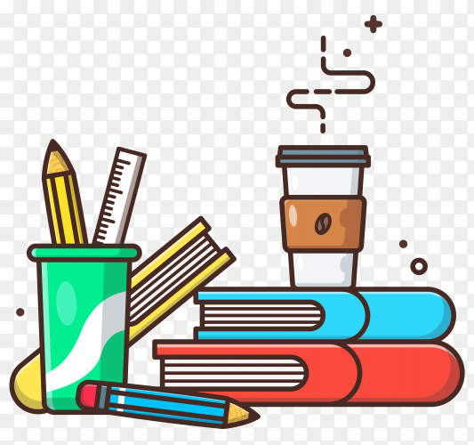 Education icon concept on transparent background PNG