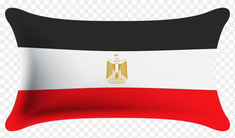 Egypt flag design on transparent PNG