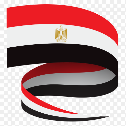 Egypt flag on transparent background PNG