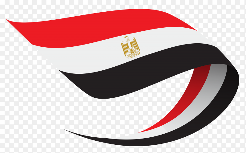 Egypt flag premium vector PNG