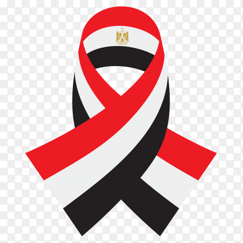 Egypt flag ribbon design premium vector PNG