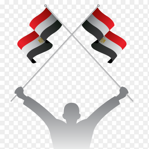 Egypt national day celebration design on transparent background PNG
