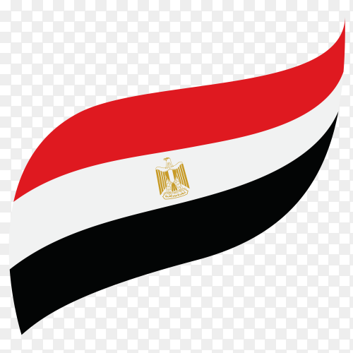 Egypt national flag on transparent background PNG