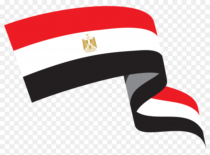 Egypt national flag premium vector PNG