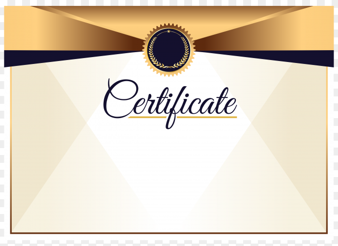 Elegant style certificate template on transparent background PNG