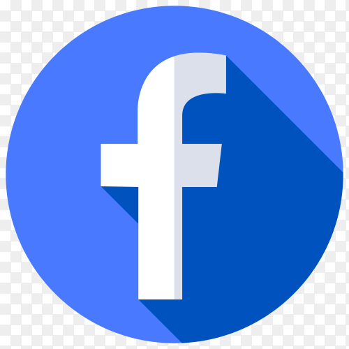 Facebook icon design illustration on transparent background PNG