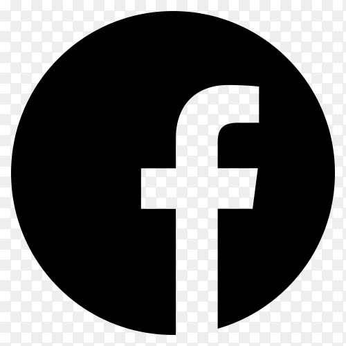 Facebook icon design on transparent background PNG
