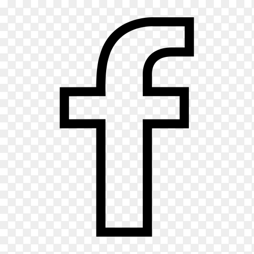 Facebook icon design premium vector PNG