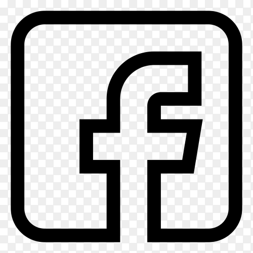 Facebook icon isolated on transparent background PNG