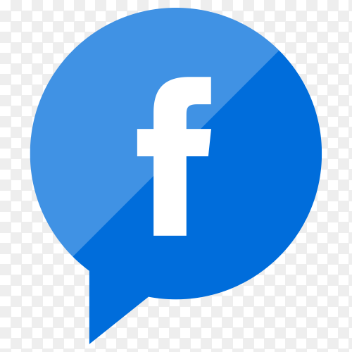 Facebook icon with flat design on transparent background PNG
