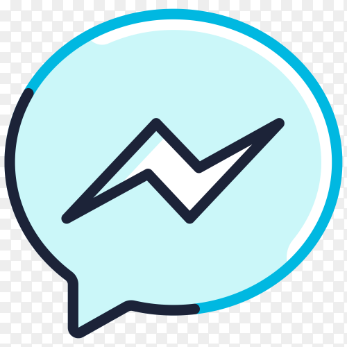 Facebook messenger icon design clipart PNG