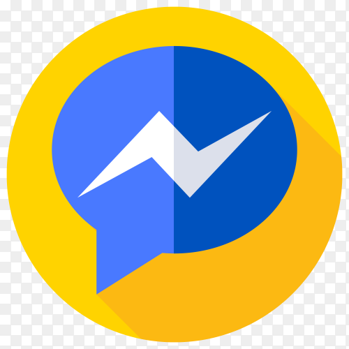 Facebook messenger icon on transparent background PNG