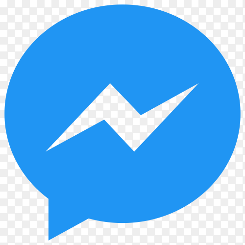Facebook messenger icon with flat design on transparent background PNG