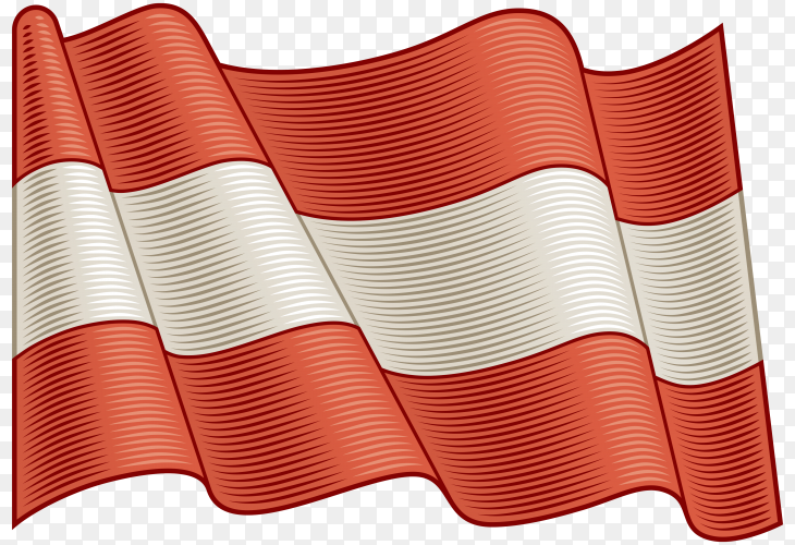 Flag Of Austria on transparent background PNG
