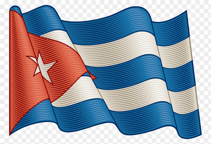 Flag Of Cuba on transparent background PNG