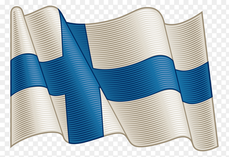 Flag Of Finland on transparent background PNG