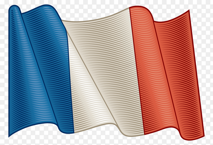 Flag Of France on transparent background PNG