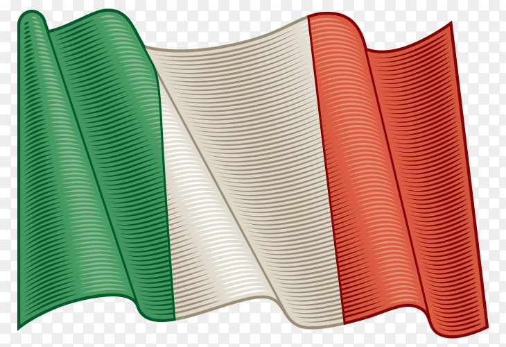 Flag Of Italy on transparent background PNG