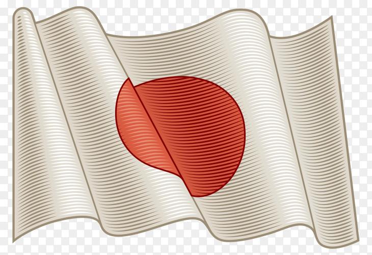 Flag Of Japan on transparent background PNG