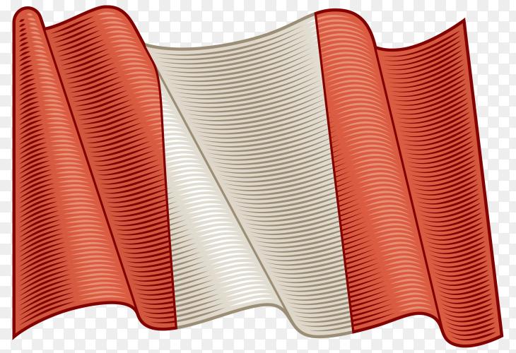 Flag Of Peru on transparent background PNG