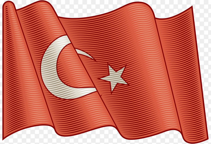 Flag Of Turkey on transparent background PNG