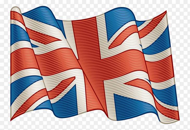 Flag Of United Kingdom on transparent background PNG