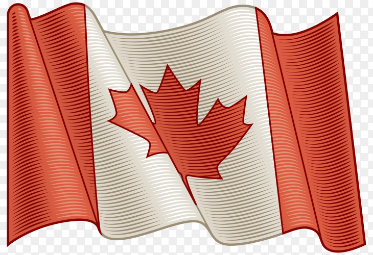 Flag of Canada on transparent background PNG