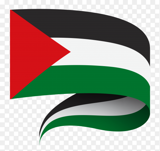 Flag of Palestine Illustration on transparent background PNG