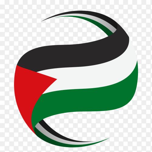 Flag of Palestine illustration on transparent PNG