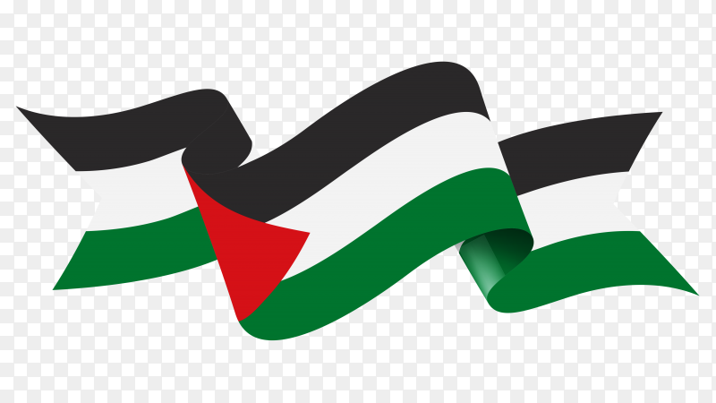 Flag of Palestine isolated Clipart PNG