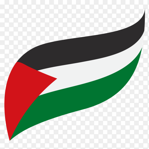 Flag of Palestine on transparent background PNG