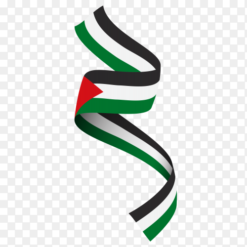 Flag of Palestine template on transparent PNG