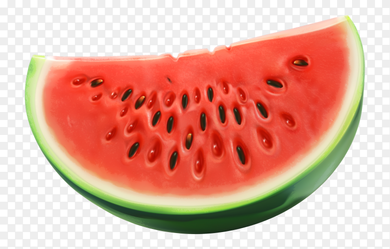 Fresh Sliced of watermelon isolated premium vector PNG