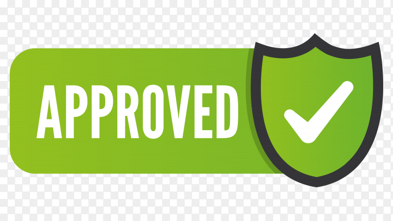 Green Approved stamp illustration on transparent background PNG