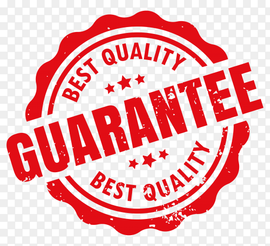 Guarantee stamp on transparent background PNG