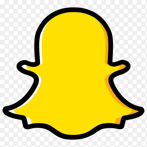 Hand drawn Snapchat icon design premium vector PNG