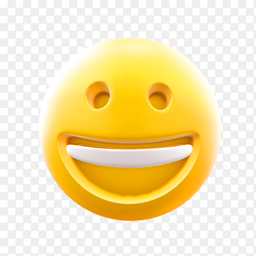 Happy smiley face cute emoji on transparent background PNG