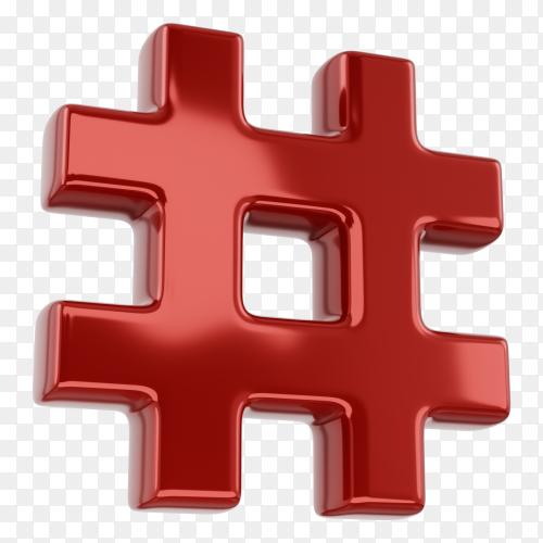 Hashtag symbol Premium Vector PNG