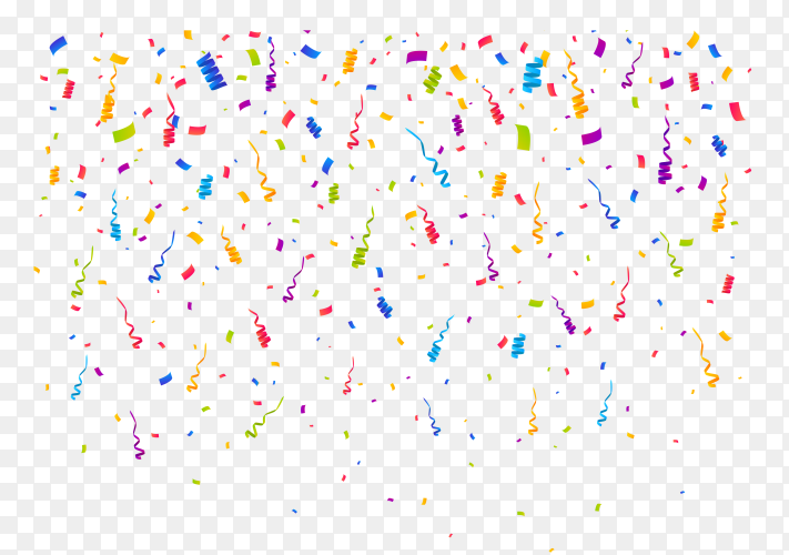 Illustration of colorful confetti premium vector PNG
